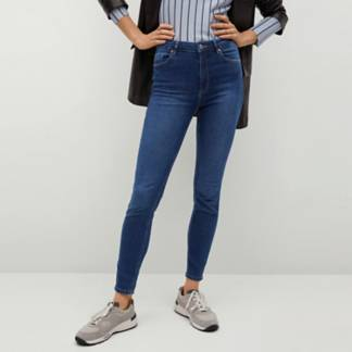 MANGO - Jeans Skinny Tiro Alto Noa Mujer