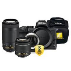 Nikon - Cámara Nikon Z50  Lente 18-55mm  70-300mm  FTZ