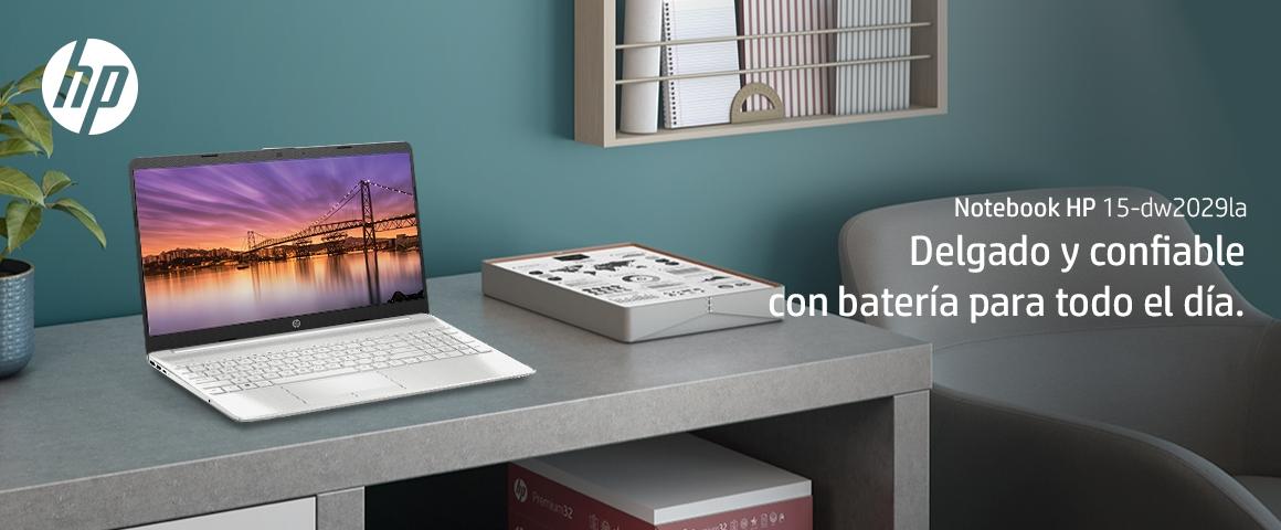 Diseñado para tu productividad y entretenimiento desde cualquier lugar, el Notebook HP 15