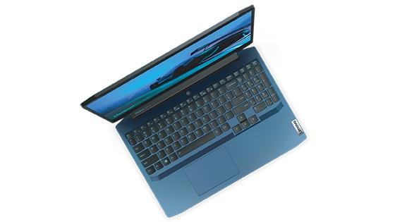 Ideapad Gaming 3i vista cenital teclado retro-iluminado multimedia