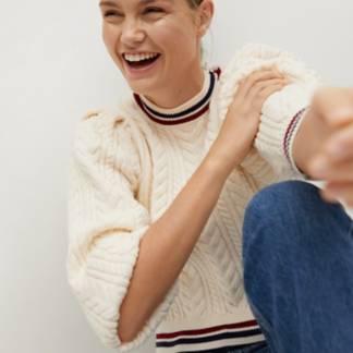 MANGO - Sweater Cierre Botones En El Hombro Gracer Mujer