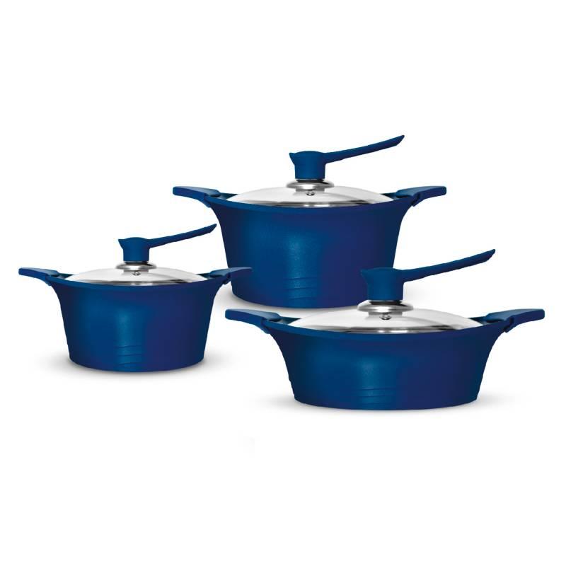 Bohlier - Batería De Cocina 6 c Azul Bohlier