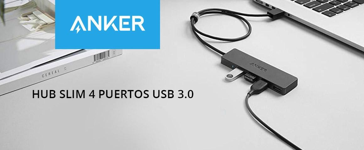 Hub Slim 4 Puertos USB 3.0