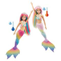 BARBIE - Muñeca Barbie Sirena Arcoíris Mágico