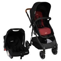 INFANTI - Coche Travel System Noa Negro-Rojo