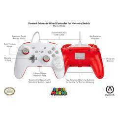 POWER A - Control Pro Nintendo Switch Mario Bross White Wire