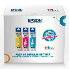 EPSON - Tinta PACK X 3 T664 C