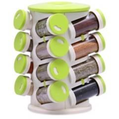 GENERICA - Especiero Spice Rack De 16 Piezas Porta Condimento