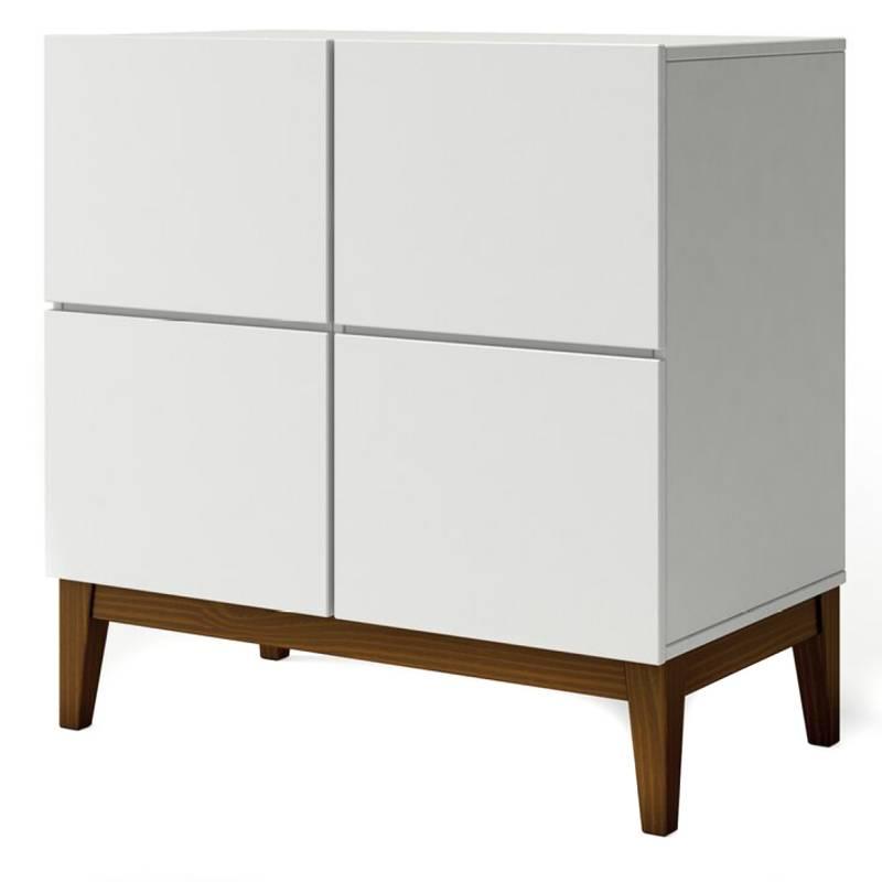 THE NORTH DESIGN - Buffet  Klein 4P  80X45X80 Blanco/Nog