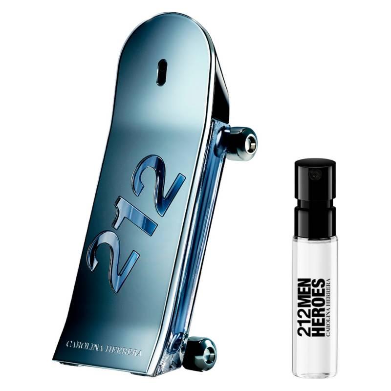 CAROLINA HERRERA - Perfume hombre Compra y Prueba 212 Heroes EDT 90 ml