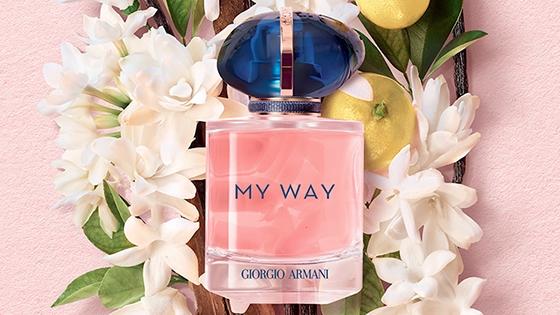 Visual MY WAY con ingredientes rosado natural floral
