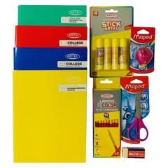 Arte y Costura - Pack Cuaderno College  Útiles Rosado Artel