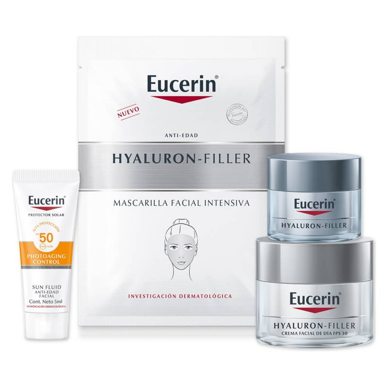 EUCERIN - Pack Estuche Hyaluron Filler Efecto Anti-Arrugas + Hidratación Intensiva
