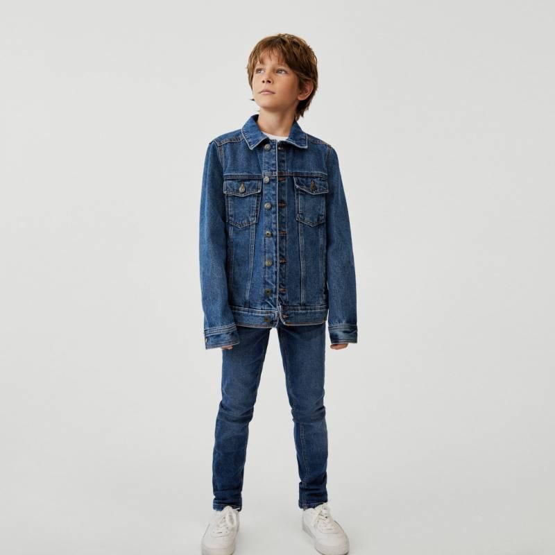 MANGO KIDS - Chaqueta Jeans Demin Algodón Niño