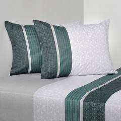 CANNON - Juego de sábanas polialgodón 200 estampado