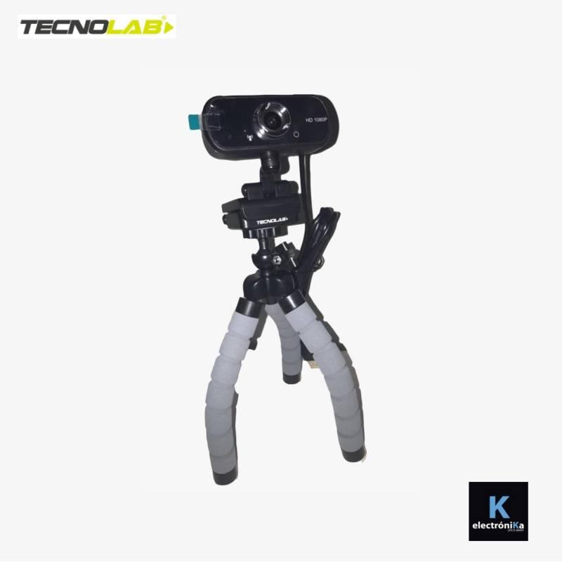 TECNOLAB - Cámara Web Sala Híbrida 1080P USB Mini Trípode