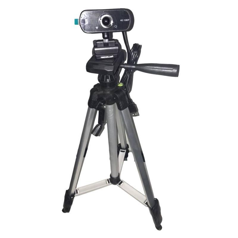 TECNOLAB - Webcam Sala Híbrida 1080P Tripode 1mt Ajustable