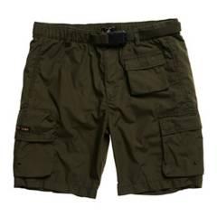 SUPERDRY - Pantalón Corto 6 Bolsillos Parche con El Logo de La Firma Hombre