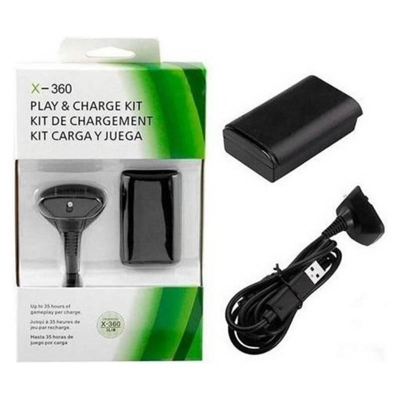 Generico - Kit De Carga Y Juega Xbox 360 Batería 3800 Mah