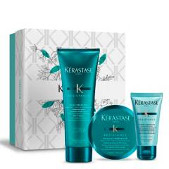 KERASTASE - Set Cabello Dañado Bain 250 ml + Masque 75ml + Texturizante 45 ml Therapiste