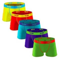 TOP - Boxer 5 piezas algodón niño