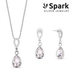 SPARK - Set Melfi Aros + Collar Cristal