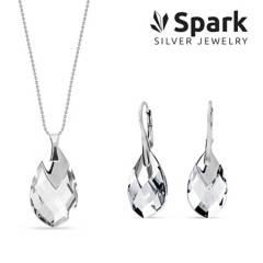SPARK - Set aros y collar silver drop