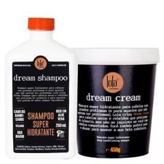 LOLA COSMETICS - Set Hidro recontructor Dream Cream Shampoo Hidratante 250 ml + mascara Súper Hidratante 450 gr