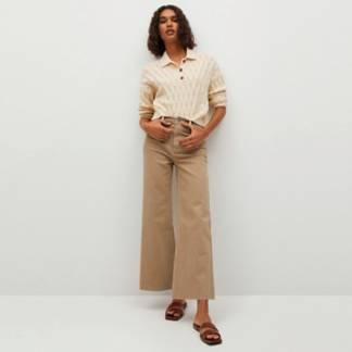 MANGO - Jeans Culotte Tiro Alto Catherin Mujer