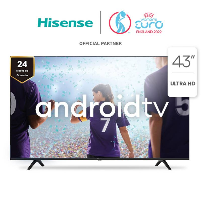 """HISENSE - LED 43"""" 43A6G 4K HDR Android Smart TV 2020/21"""