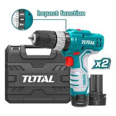 Total Tools - Taladro Percuto Inalambrico 3/8 12V