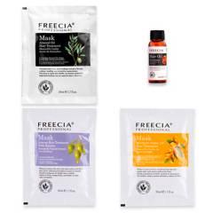 FREECIA - Set 3 Mascarillas capilares de 50 ml + Sérum de 30 ml