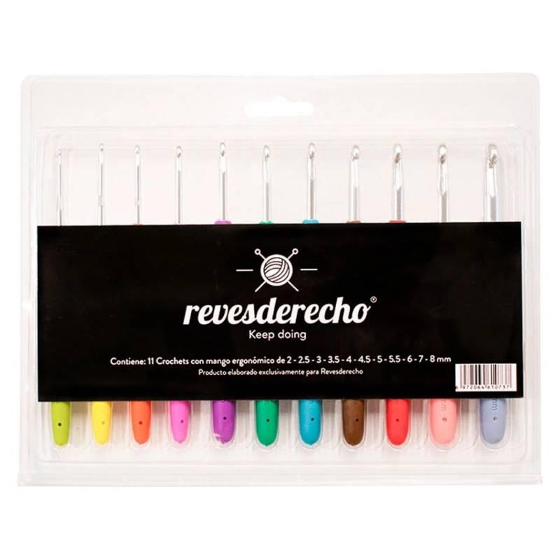 REVESDERECHO - Set Crochet Alu. M/Colores Rd 11 Un