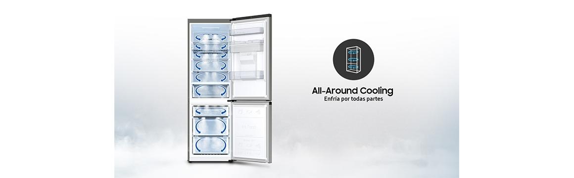 Samsung Bottom Mount de 331L con All Around Cooling