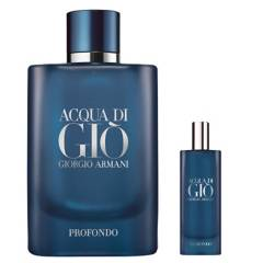 GIORGIO ARMANI - Set Perfume Hombre Acqua Di Gio Profondo Edp 125 ml + 15 ml