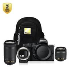 Nikon - Z50  18-55mm  70-300mm FTZ  Mochila  Garantía2