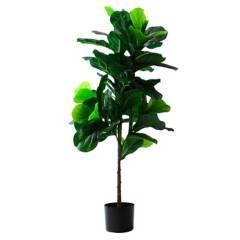 HOME GARDEN CHILE - Planta Artificial Ficus Lyrata 72 Hojas 120Cm