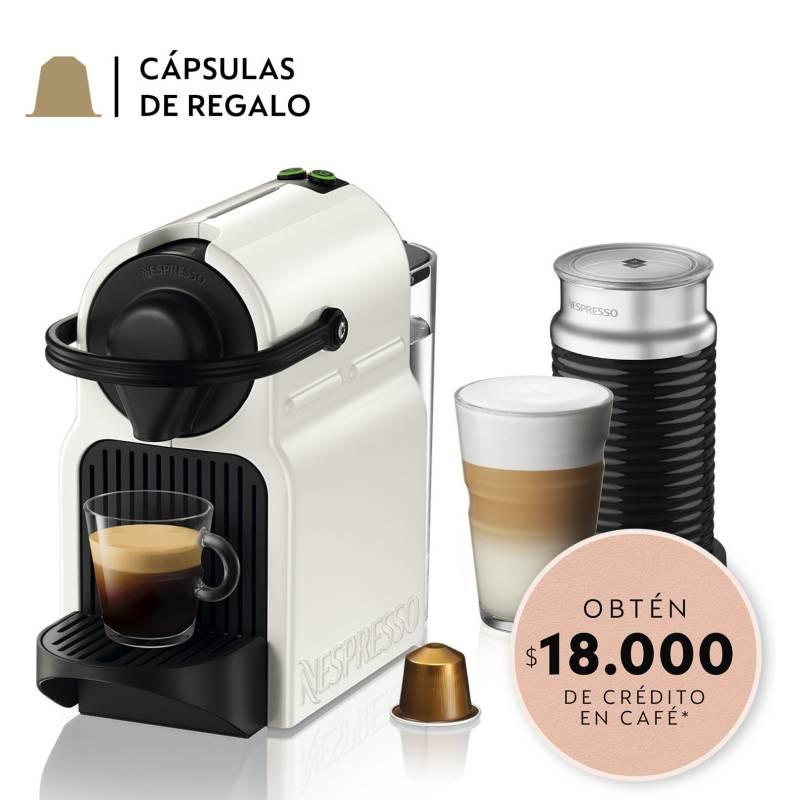 NESPRESSO - Cafetera Inissia C40 Blanca y Espumador de leche