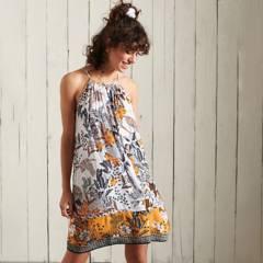 SUPERDRY - Vestido de Playa de Tirantes Mujer