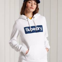SUPERDRY - Polerón con Capucha y Logo Core Workwear Mujer