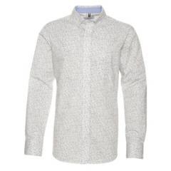 JAYSON - Camisa Trevira Estampada Ml Regular Fit
