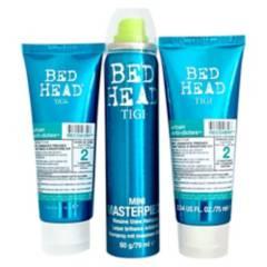 TIGI - Set Hidratación Cabellos Secos Recovery Shampoo 75 ml, Acondiconador 75 ml y Laca 79 ml