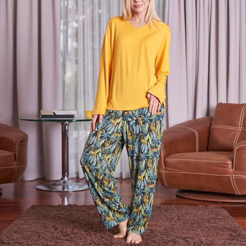 BAZIANI - Pijama Mujer manga larga