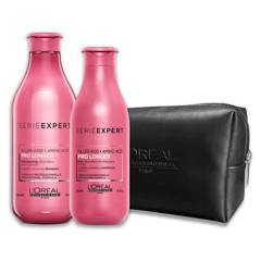 LOREAL - Set Dupla Cabello Largo Shampoo 300ml + Acondicionador 200ml + Cosmetiquero Pro Longer