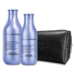 LOREAL - Set Dupla Rubio Irresistible Shampoo 300ml + Acondicionador 200ml + Cosmetiquero Blondifier