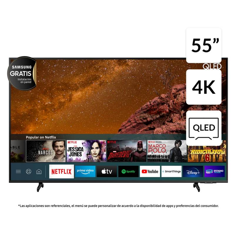 "SAMSUNG - QLED 55"" Q60A 4K UHD Smart TV 2021"