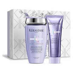 KERASTASE - Set Cofre Cabello Rubio Blond Absolu Bain Ultra-Violet 250 ml + Fondant 250 ml