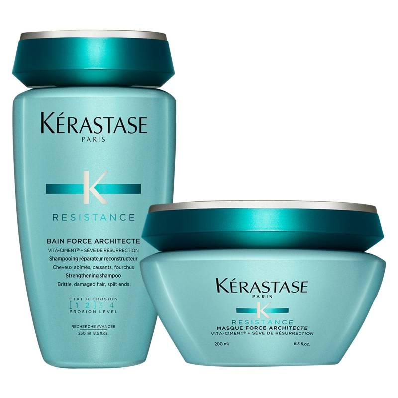 KERASTASE - Set Cabello Debilitado Force Architecte Bain 250 ml + Masque 200 ml