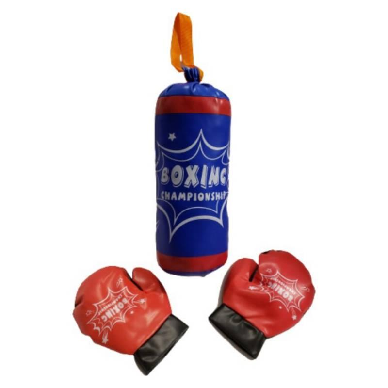 FIGLIO - Set Boxeo Infantil Azul Saco Y Guantes