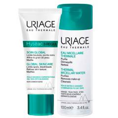 URIAGE - Pack Hyséac 3-Regul 40 ml y Agua Micelar Piel Mixta a Grasa 100 ml